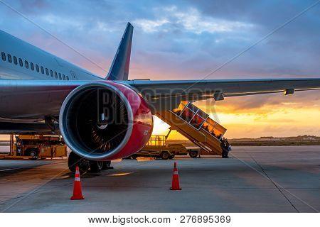 Passenger Plane Azur Air Arrived At The Airport Kam Ranh, Nha Trang, Vietnam - March 03, 2018. Passe