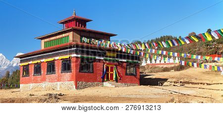 Temle In Za-sa Or Zasa Gompa Or Monastery Near Sallery Vilage, Solukhumbu, Nepal