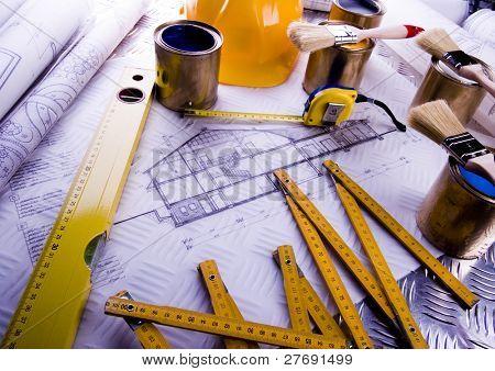 Color samples & Architecture plan
