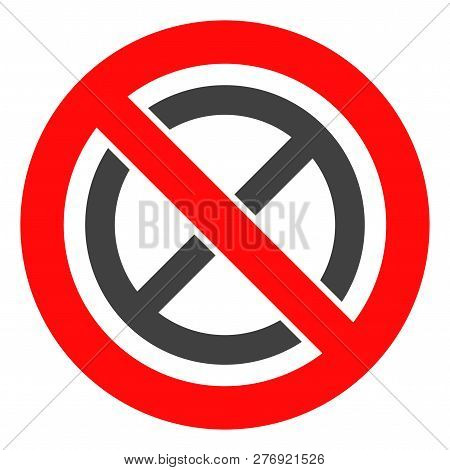 Forbidden Ban Vector Icon Symbol. Flat Pictogram Is Isolated On A White Background. Forbidden Ban Pi