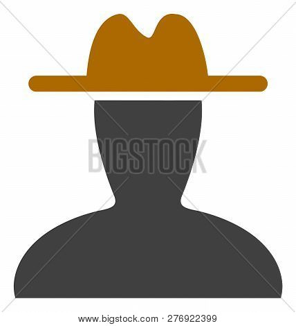 Peasant Persona Vector Icon Symbol. Flat Pictogram Is Isolated On A White Background. Peasant Person