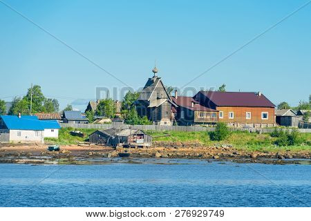 Kem, Republic Of Karelia, Russia - June 24, 2018: Compound Of The Spaso-preobrazhensky Solovki Staur