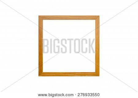 Small Wood Picture Frame, Isolated On White