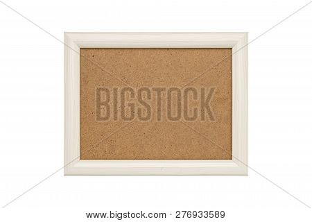 White Wood Picture Frame With Passepartout, Isolated On White