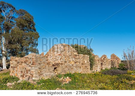 An Historic Ruin At Matjiesfontein Farm In The Northern Cape Province Of South Africa