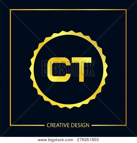 Initial Letter Ct Logo Template Vector Design