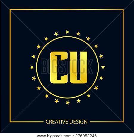 Initial Letter Cu Logo Template Vector Design