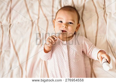 Baby Toddler Boy Girl Reaching Playing Pills Medicine Hazard Danger Poison