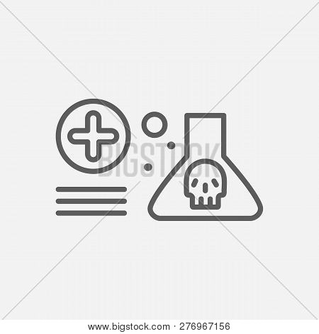 Toxicology Icon Line Symbol. Isolated Vector Illustration Of  Icon Sign Concept For Your Web Site Mo