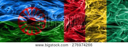 Gipsy, Roman Vs Guinea, Guinean Smoke Flags Placed Side By Side