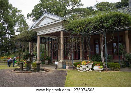 Nagasaki, Japan - October 26, 2018:  Former Alt House at Glover Garden, Nagasaki City,  Japan