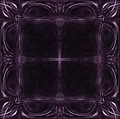 abstract computer generated purple frame poster