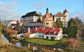 The Historical Castle Complex, The Town Of Jindrichuv Hradec, The Southern Bohemia, The Czech Republ