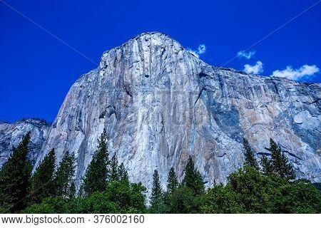 World Famous Rock Climbing Wall Of El Capitan, Yosemite National Park, California, Usa