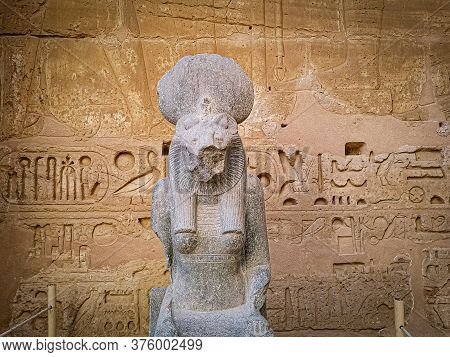 Statue Of Sekhmet, Egyptian Goddess With A Lioness Head