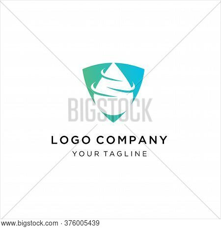 Water Drop Shield Logo Design, Shield Logo Accompanied Drops Of Water