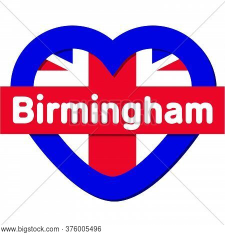 Love Birmingham City - City In England, Vector Collection