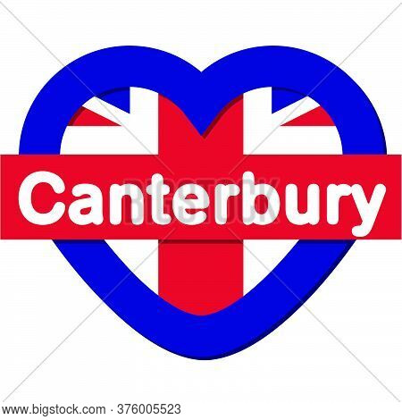 Love Canterbury City - City In England, Vector