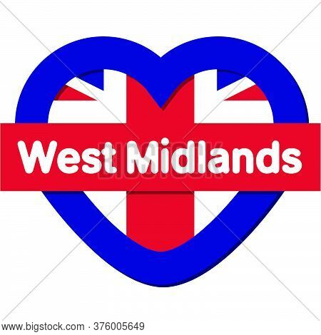 Love West Midlands - Heart Vector Collection