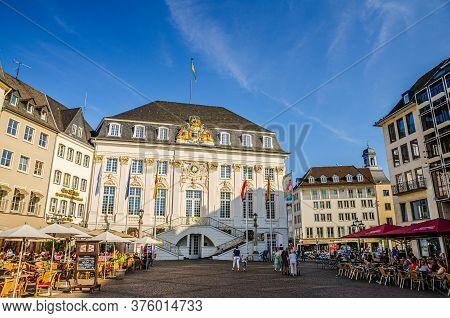 Bonn, Germany, August 23, 2019: Old City Hall Or Altes Rathaus Bundesstadt Bonn Rococo Style Buildin