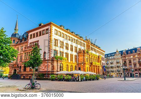 Wiesbaden City Palace Stadtschloss Or New Town Hall Rathaus Neo-classical Style Building On Schlossp