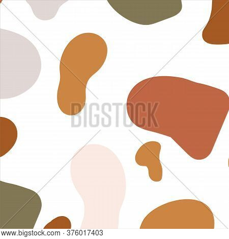 Abstract Background Drawn By Hand. Blots And Spots For Your Painting Or Panel. The Painted Texture I