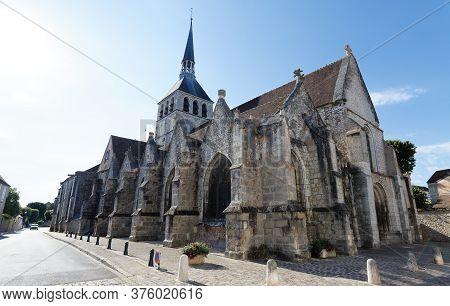Holy Cross Church, First Half Of 12th Century , In Provins , France . Provins - Commune In Seine-et-