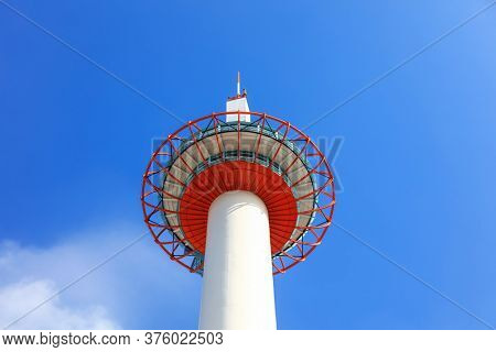 Kyoto, Japan - August 9, 2019. Kyoto tower is the tallest building in Kyoto city
