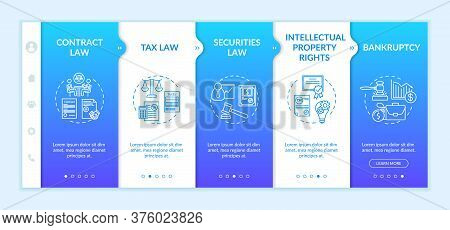 Attorney Core Competencies Onboarding Vector Template. Intellectual Property Rights. Lawyer. Respons