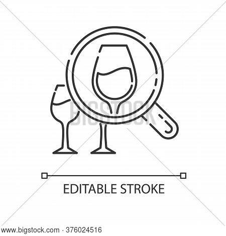 Enotourism Pixel Perfect Linear Icon. Wine Tasting Tours, Winemaking Thin Line Customizable Illustra