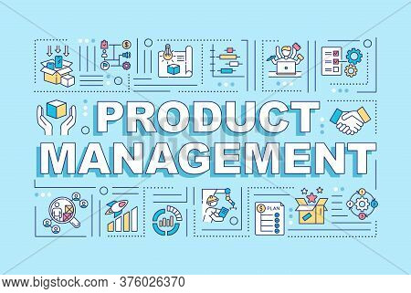Product Management Word Concepts Banner. Marketing Professional. Production Supervisor. Infographics
