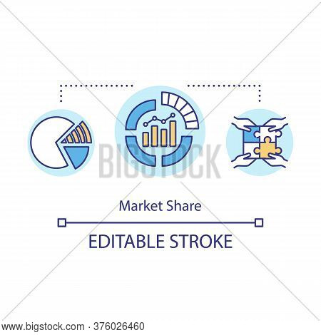 Market Share Concept Icon. Financial Forecast. Diagram For Commercial Statistic. Product Management