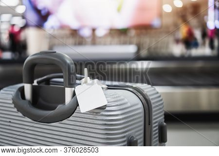 Tag Blank Label On Luggage Holder Suitcase Or Baggage Put Letter For Display Your Products For Trave