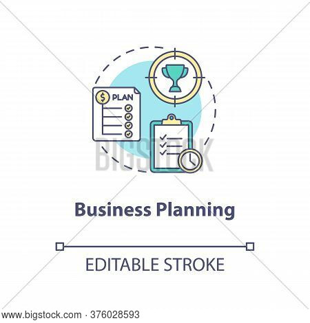 Business Planning Concept Icon. Financial Strategy. Corporate Development. Product Management Idea T