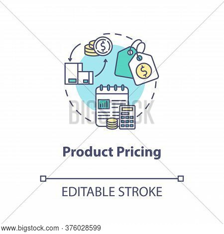 Product Pricing Concept Icon. Sell Merchandise. Commerce Plan. Financial Strategy. Product Managemen