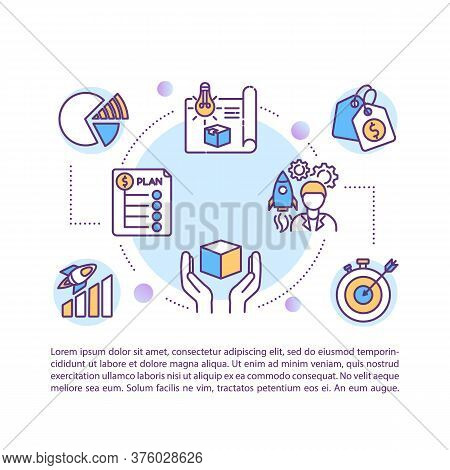 Product Management Concept Icon With Text. New Product Development And Justification. Ppt Page Vecto