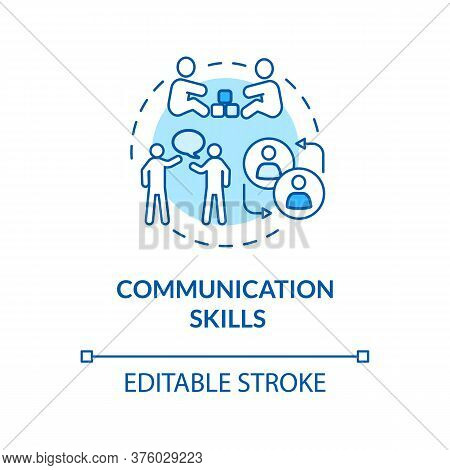 Children Communication Skills Concept Icon. Early Childhood Education. Verbal And Nonverbal Behavior