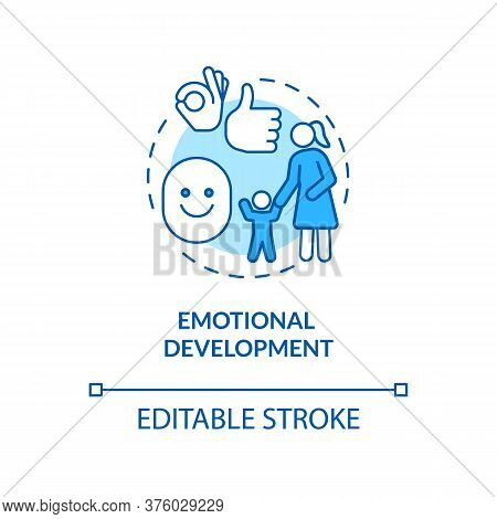 Children Emotional Development Concept Icon. Toddler Social Skills. Childhood And Parenting. Managin