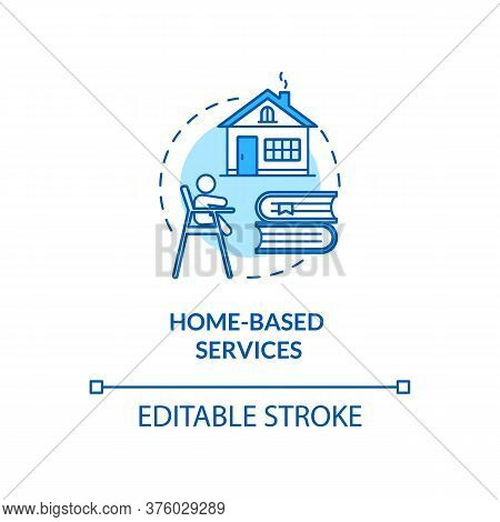 Childcare Homebased Services Concept Icon. Early Childhood Education. Preschool Home Teacher Idea Th