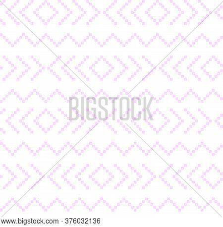 Purple Christmas Fair Isle Seamless Pattern Background