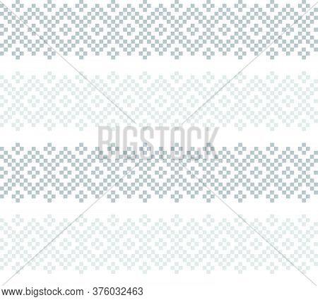 White Christmas Fair Isle Seamless Pattern Background