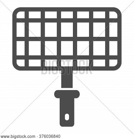 Grill Steel Grid Solid Icon, Picnic Concept, Barbecue Grille For Grilling Sign On White Background,