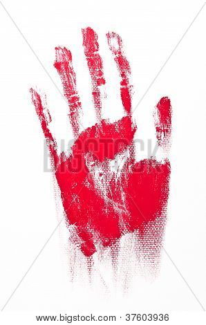 Red Spooky Hand