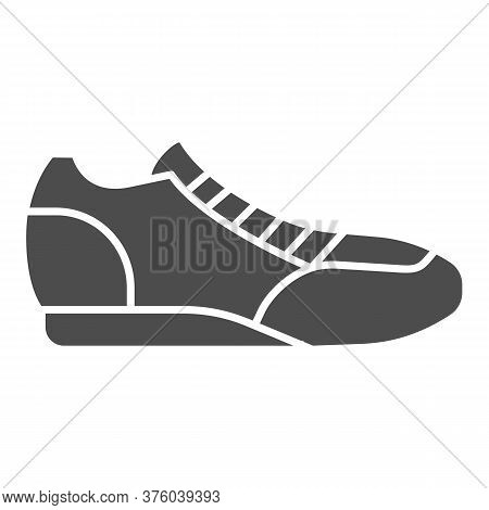 Sneaker Solid Icon, Sport Concept, Running Shoe Symbol On White Background, Fitness Sneakers Icon In