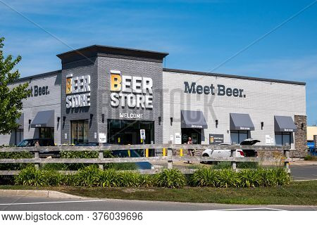 Ottawa, Ontario, Canada - July 4, 2020: A Beer Store Location In Kemptville, Ontario Open During The