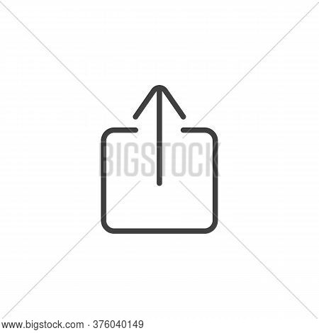 Upload Line Icon. Linear Style Sign For Mobile Concept And Web Design. Arrow Upload Outline Vector I