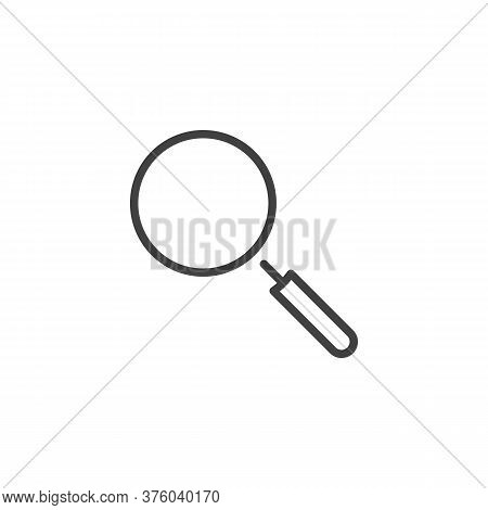 Magnifying Glass Line Icon. Linear Style Sign For Mobile Concept And Web Design. Magnifier, Search O
