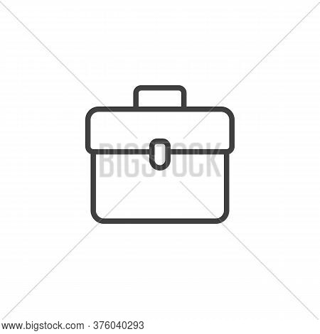 Briefcase Portfolio Line Icon. Linear Style Sign For Mobile Concept And Web Design. Document Portfol