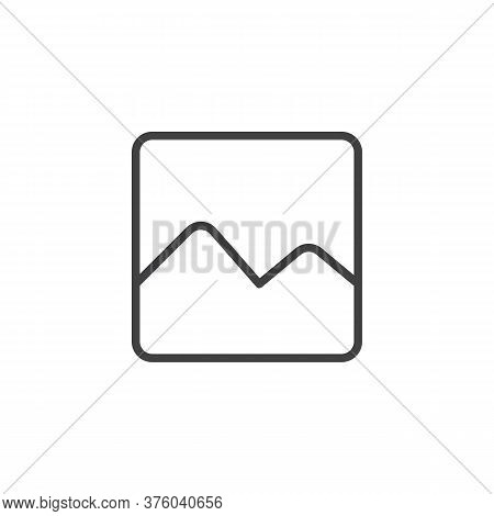 Image Gallery Line Icon. Linear Style Sign For Mobile Concept And Web Design. Pictures Gallery Outli