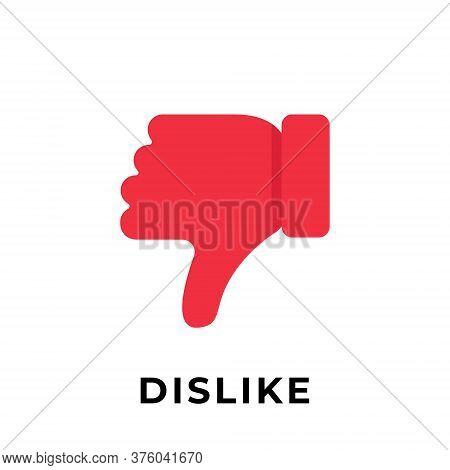 Dislike. Dislike icon. Dislike vector. Dislike icon vector. Dislike illustration. Dislike logo template. Dislike button. Dislike symbol. Dislike sign. Dislike icon design. Dislike vector icon flat design for web icons, logo, symbol, app, UI.